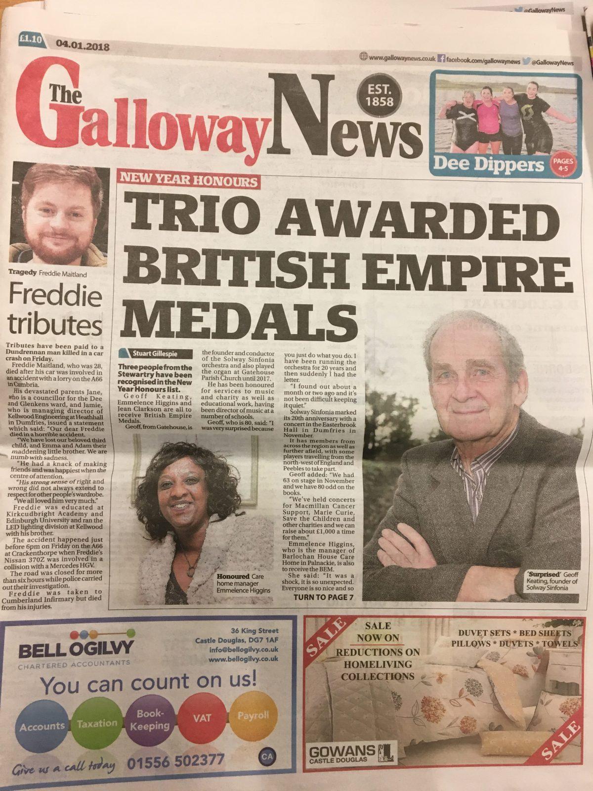 Galloway News 20180104