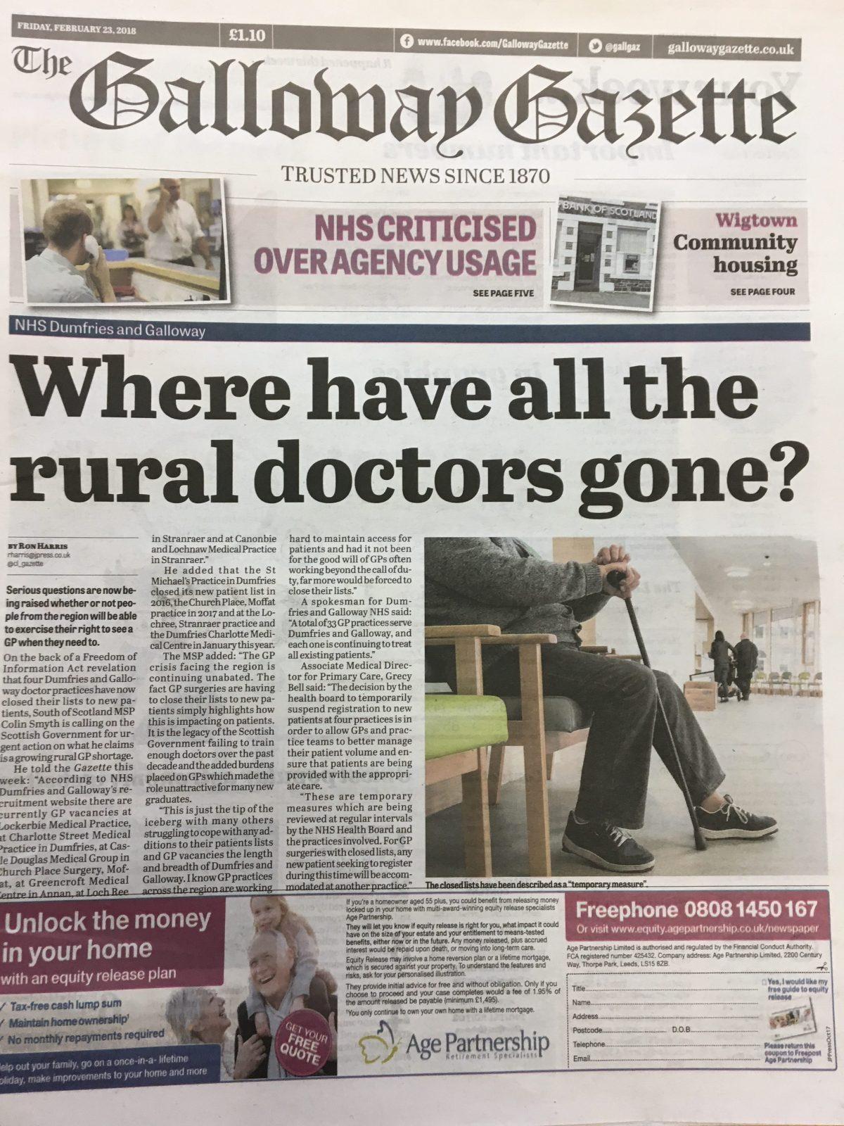 Galloway Gazette 20180223