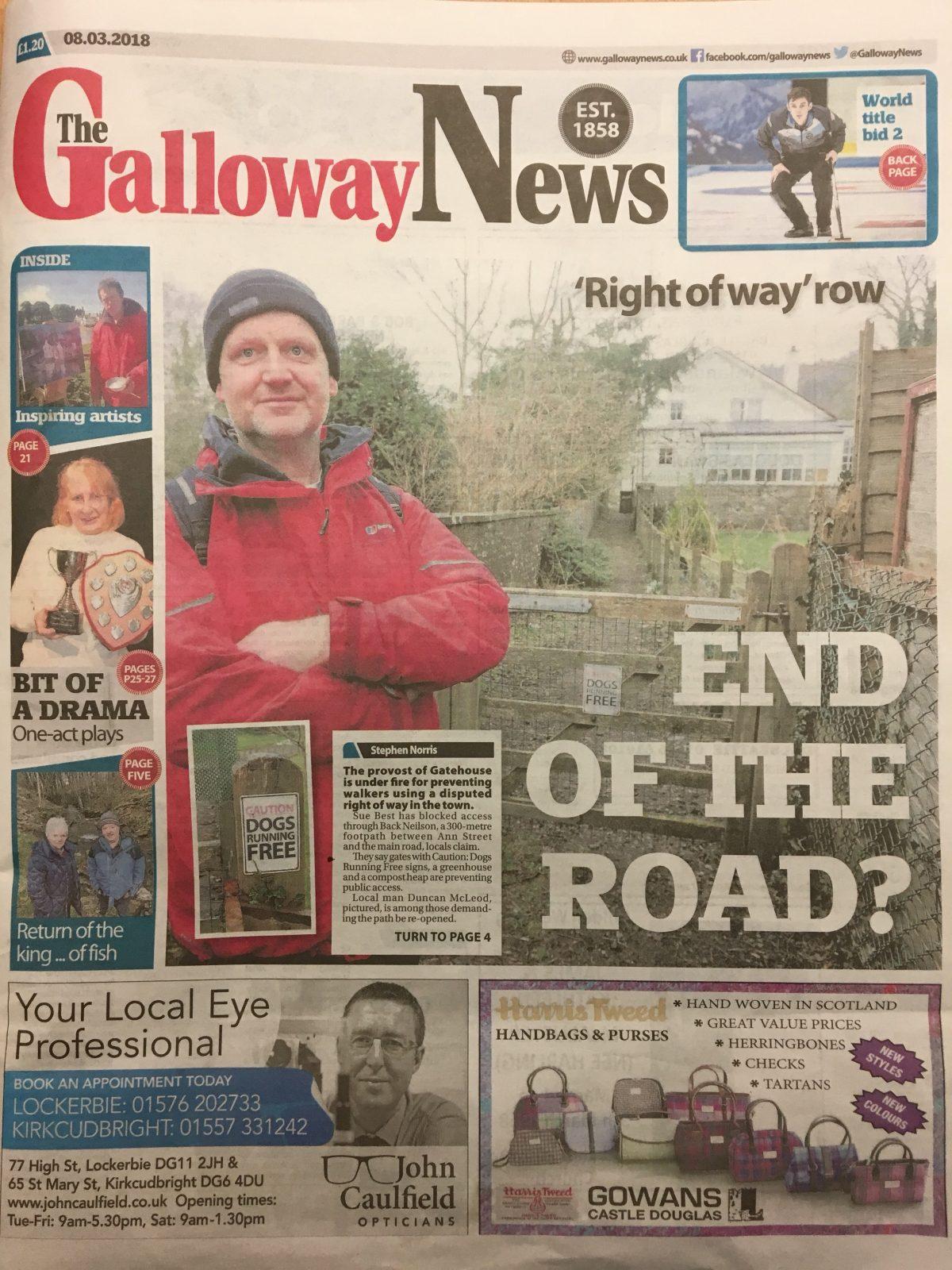 Galloway News 20180308
