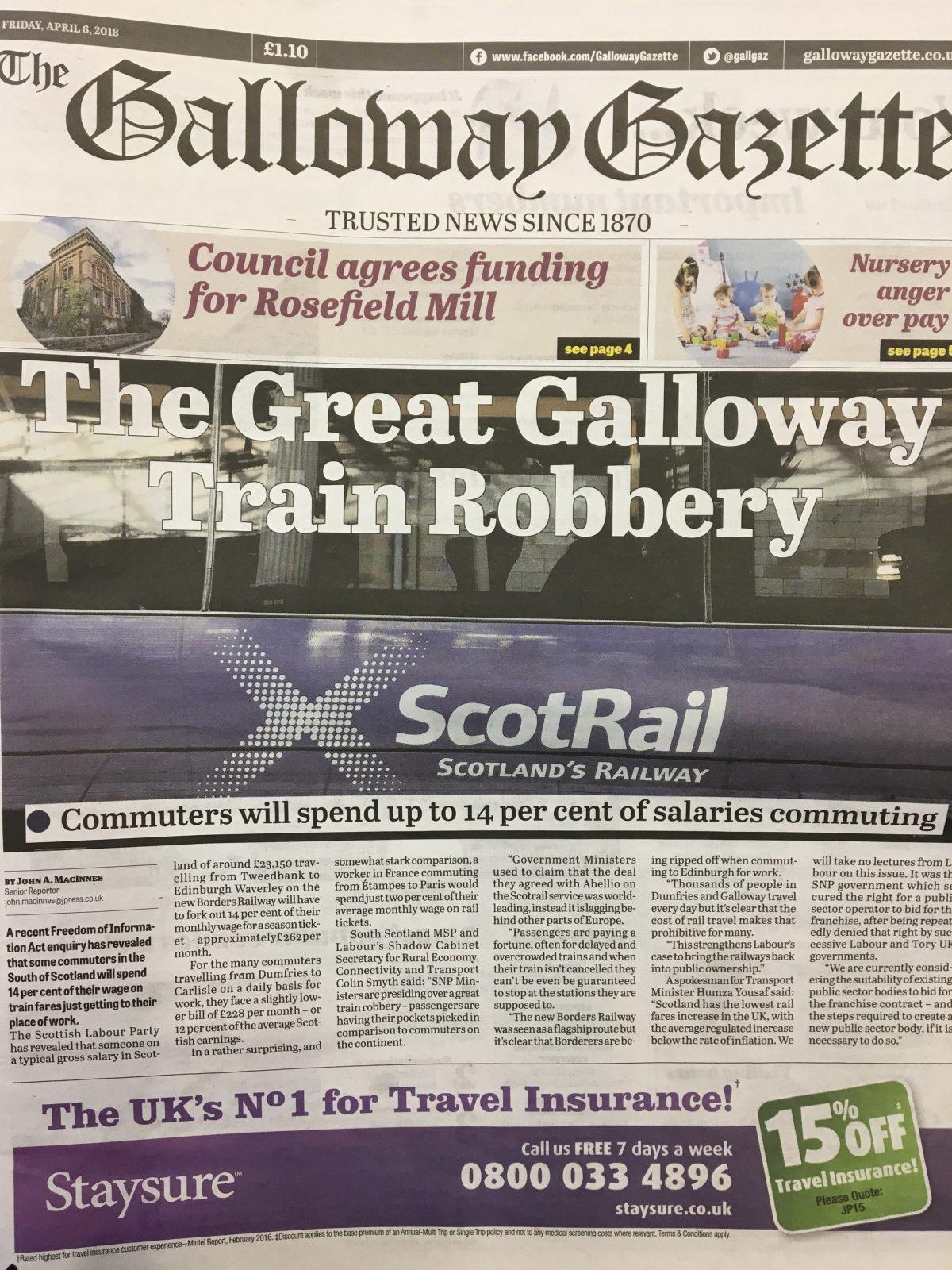 Galloway Gazette 20180406