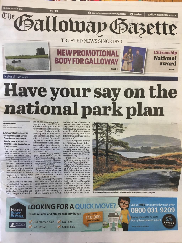 Galloway Gazette 20180608